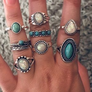 Turquoise/Opal Fashion Rings